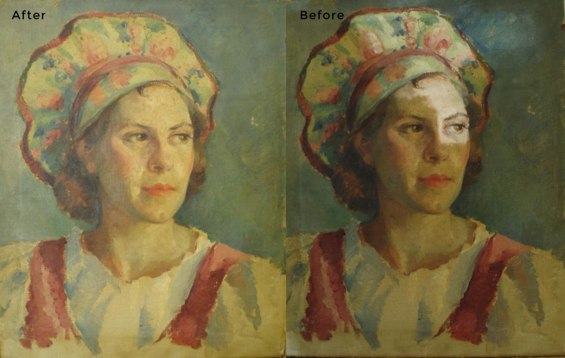 Woman Painting Restoration