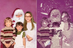 Kids with Santa Photo Restoration